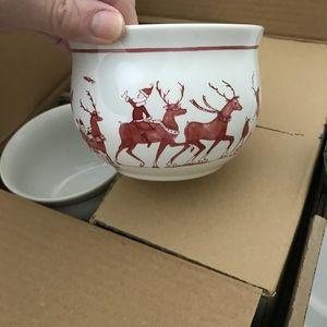 Juliska (4) new in box reindeer comfort bowls